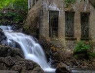 Waterfall at Willson Carbide Mill. Gatineau Park